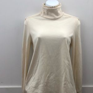 Diane von Furstenberg Cream Wool Turtleneck 8